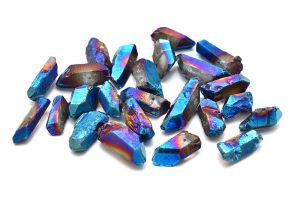 Bergskristallspets Electroplated BLÅ