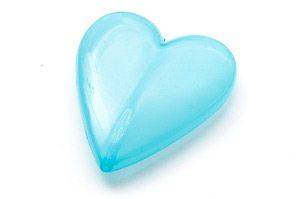 Stort akrylhjärta Ljusblå