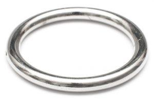 Silverpläterad Akrylring 56mm