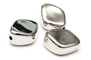Metallöverdragen Akrylpärla romb