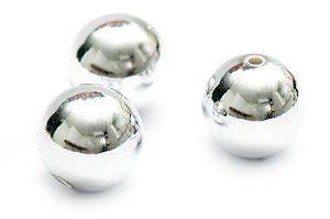 Akrylpärla Silverkula 12mm