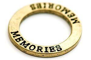 Vintage Budskapsring MEMORIES