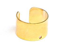 Guldpläterad Ear Cuff 6mm med hål Ø10