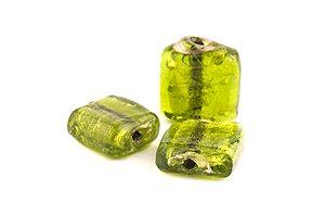 Silverfoil platt fyrkant Olivgrön