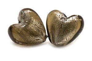 Silverfoil Hjärta 12mm Grå