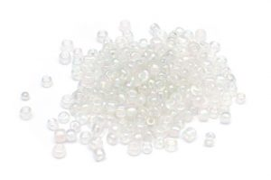 Seed beads 6/0, 4mm, Transp. AB