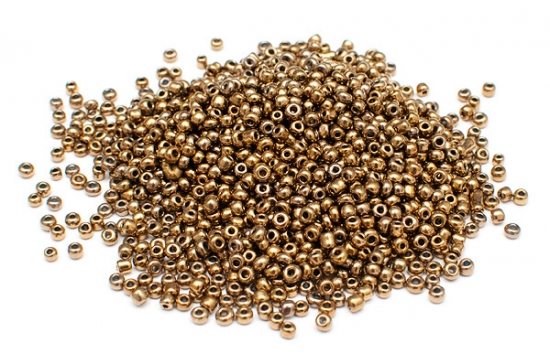 Seed beads 11/0, 2mm, Metallic bronze