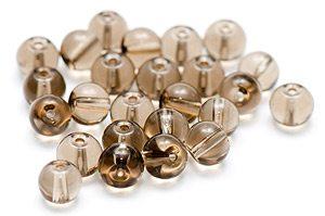 Glaspärlor Runda 6mm Grå