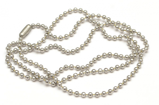 Antiksilver halskedja med lås kulkedja
