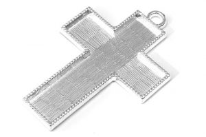 Silverpläterat stort Kors