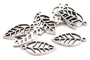 Metallblad HÖST små Silver