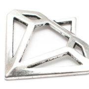 Diamant kontur Antiksilver
