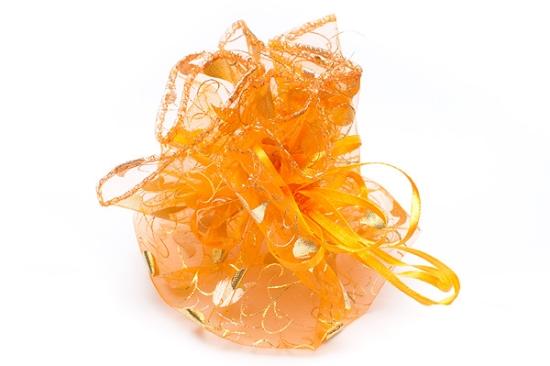 Rund Organzapåse Orange/Guld