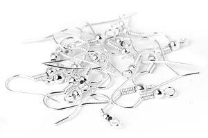 Silverpläterade Öronkrokar 18mm