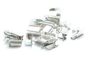 Silverpläterade Ändklämmor 7x3mm