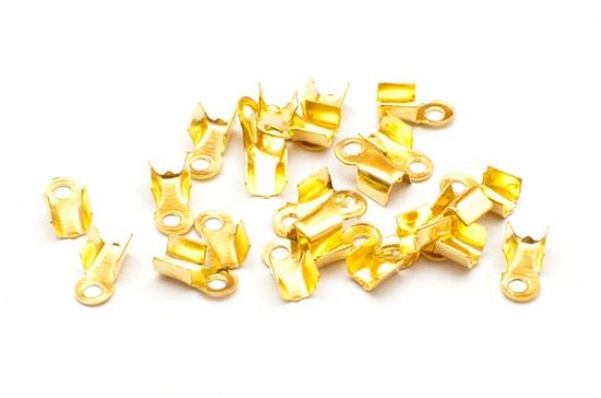 Guldpläterade Ändklämmor 3mm