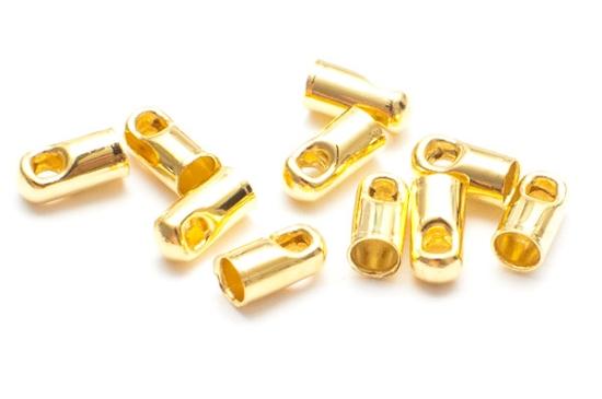 Guldpläterade Ändfästen 5x2mm