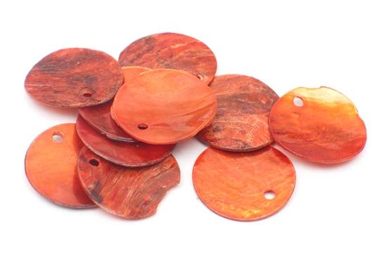 Snäckskalsplattor Orange