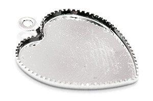Stomme med fäste Hjärta Silver 14mm