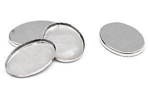 Antiksilver ovala brickor för cabochoner mm