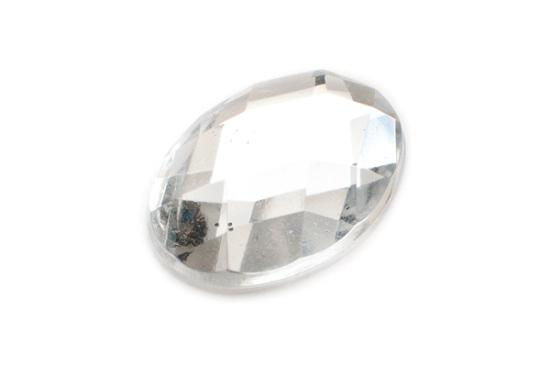 Akrylcabochon Oval 18x13mm Klar