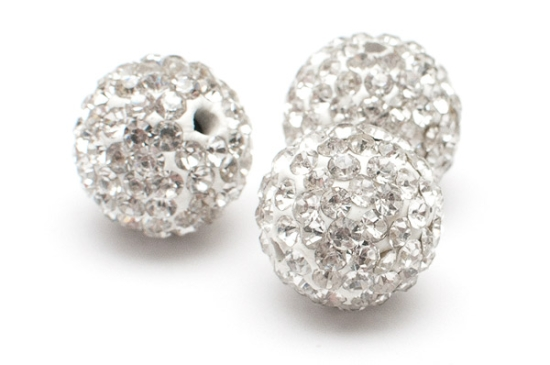 STORPACK Shamballa pärlor 12mm Vit
