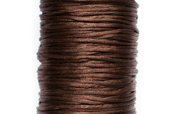 STORPACK Satintråd Rattail 2mm Brun