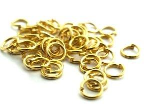 STORPACK Guldpläterade Bindringar 5mm