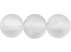STORPACK Frostade glaspärlor 8mm Vit