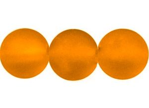 STORPACK Frostade glaspärlor 6mm Orange