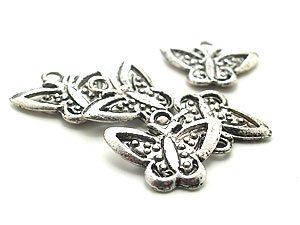 Tibetsilver Berlocker Stora fjärilar