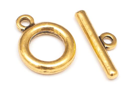 Togglelås Rund XL Guld
