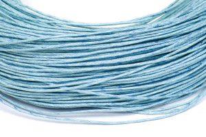 Vaxad Bomullstråd Ljusblå