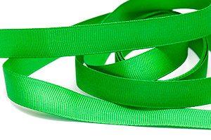 Sidenband räfflat Grön 14mm