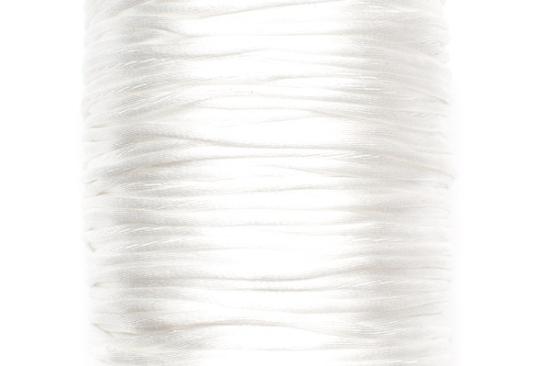 Satintråd Rattail Vit 2mm