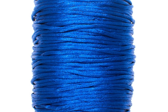 Satintråd Rattail Blå 2mm