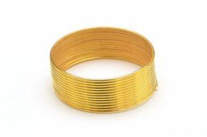 Guldpläterad Memorywire för ring