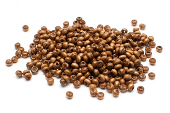Träpärlor mini Brun seed beads