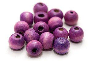 Träpärlor Lila 9mm
