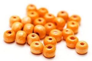 Träpärlor 6mm Orange