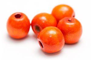 Träpärlor 13mm Orange