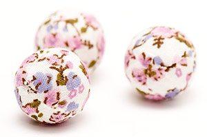 Tygpärla 20mm Småblommig Rosa