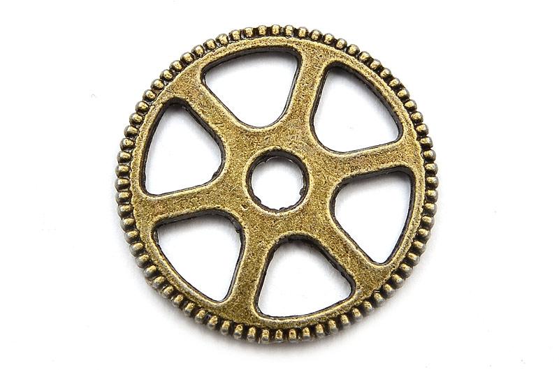 Vintage berlock/connecter Kugghjul