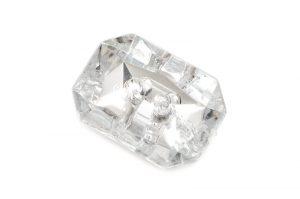 Akrylknapp octagon kristall