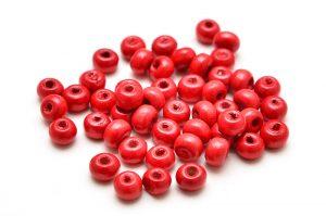 Träpärlor 4mm Röd