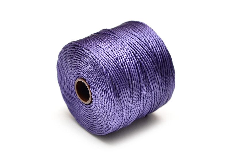 Pärltråd S-Lon Bead cord Mörklila