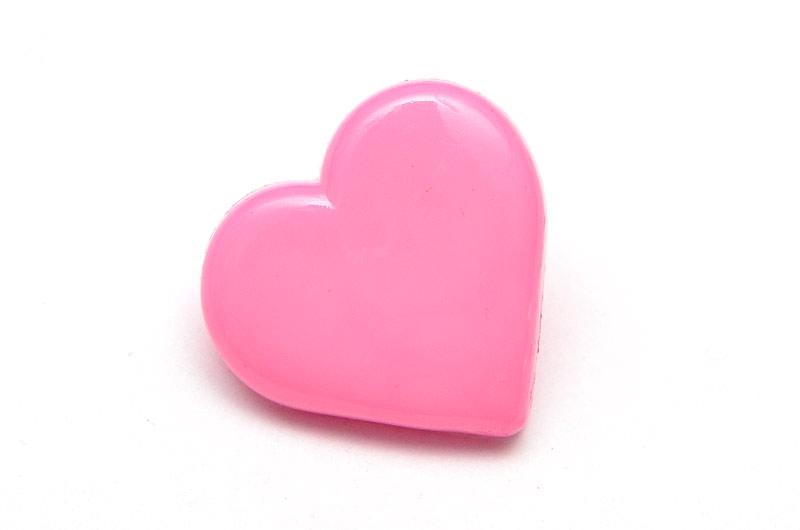 Akrylknapp hjärta Rosa