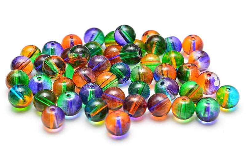 Runda glaspärlor FärgMIX 50st