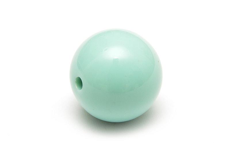 Akrylpärla 19mm Svag mintgrön