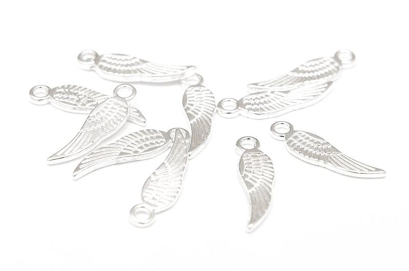 Silverpläterade små vingar